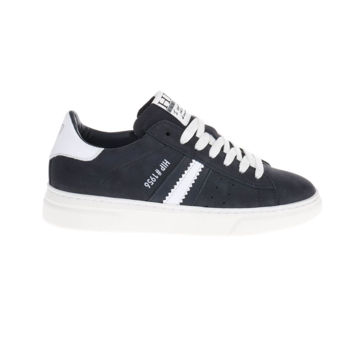HIP H1272 Sneakers Blauw Wit