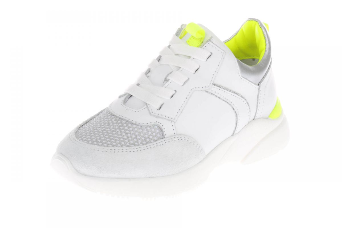 HIP H1274 Sneakers Wit Zilver Fluor