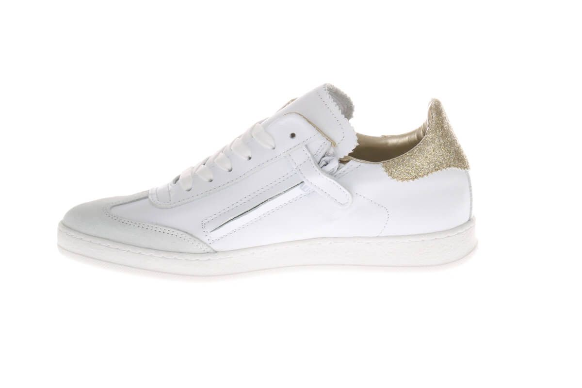 HIP H1801 Sneakers Wit Goud Glitter