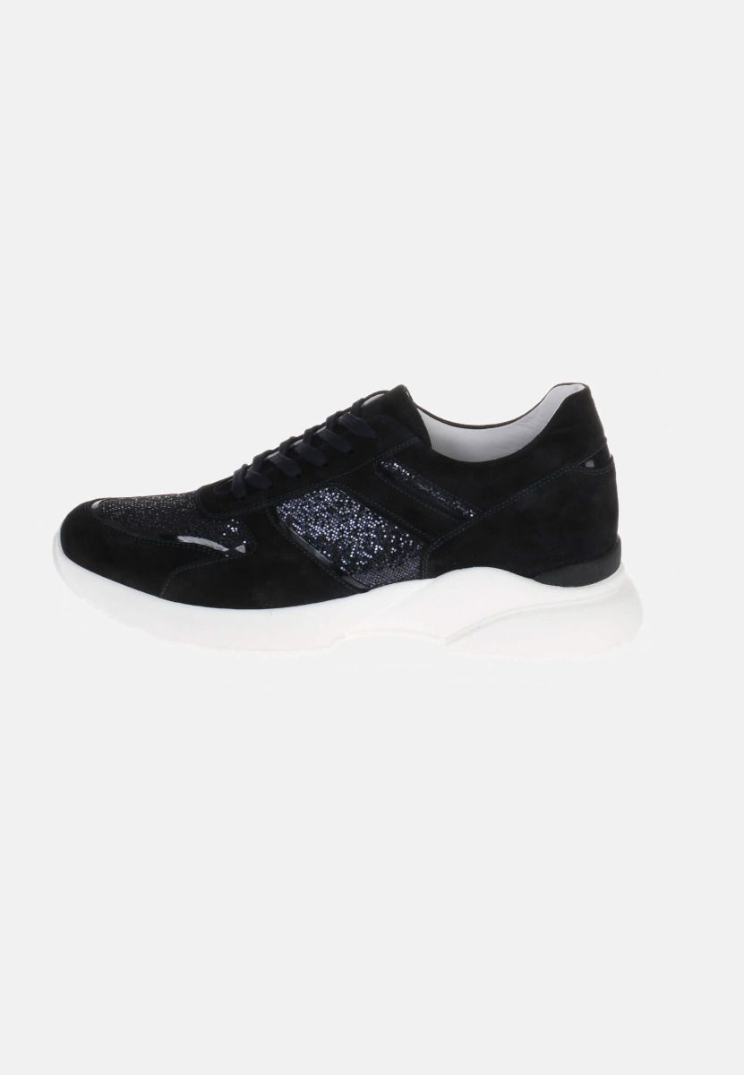HIP D1595 Sneakers Blauw Canvas Glitter