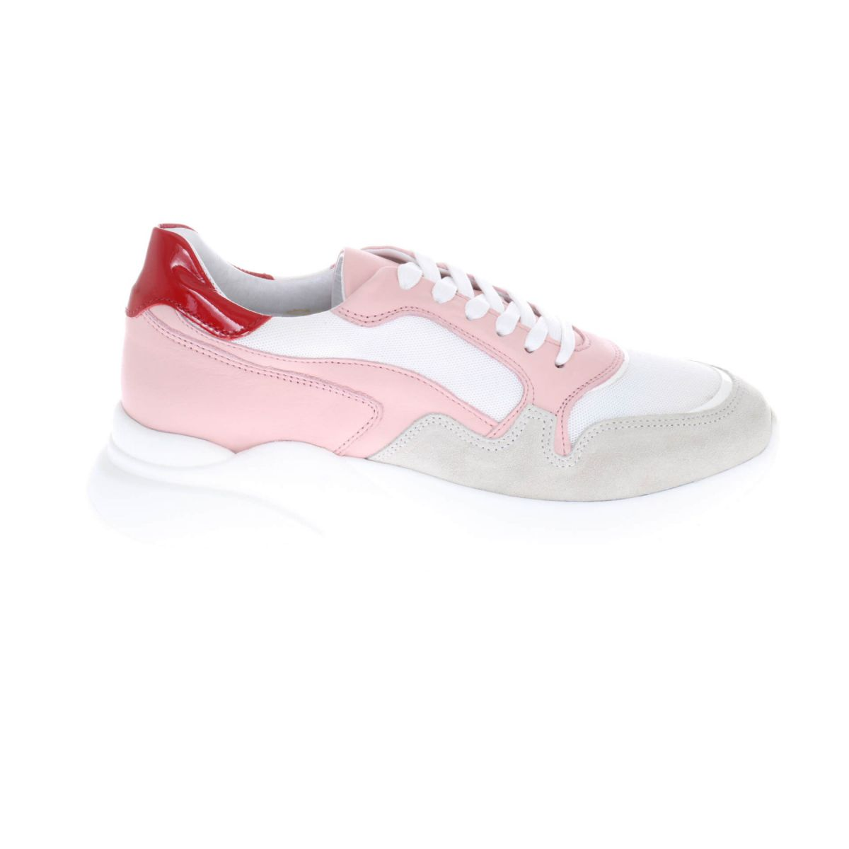 HIP D1904 Sneakers Wit Roze Rood