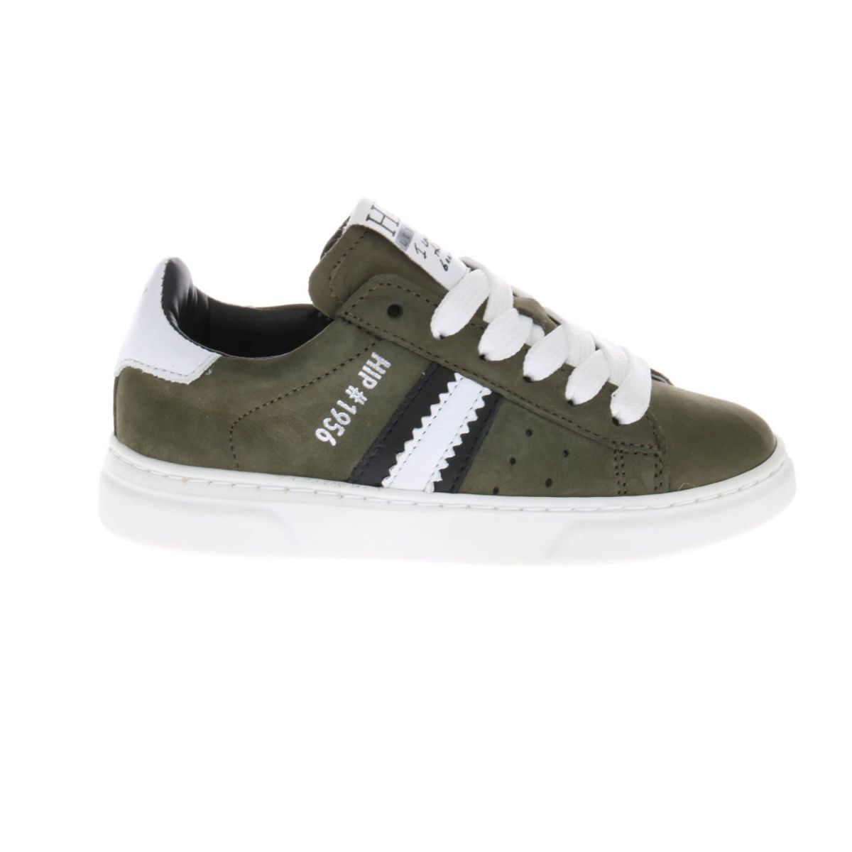 HIP H1272 Sneakers Groen Wit
