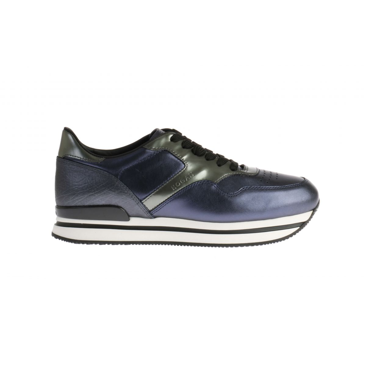 Hogan H222 Sneakers Blauw Metallic