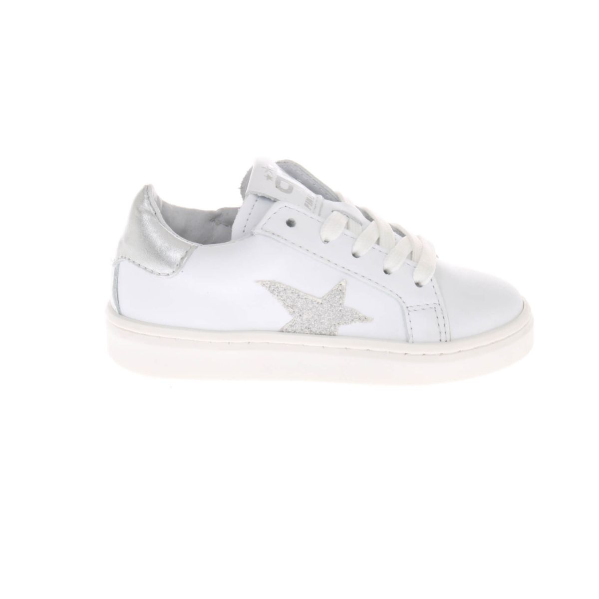 Pinocchio P1257 Sneakers Wit Zilver