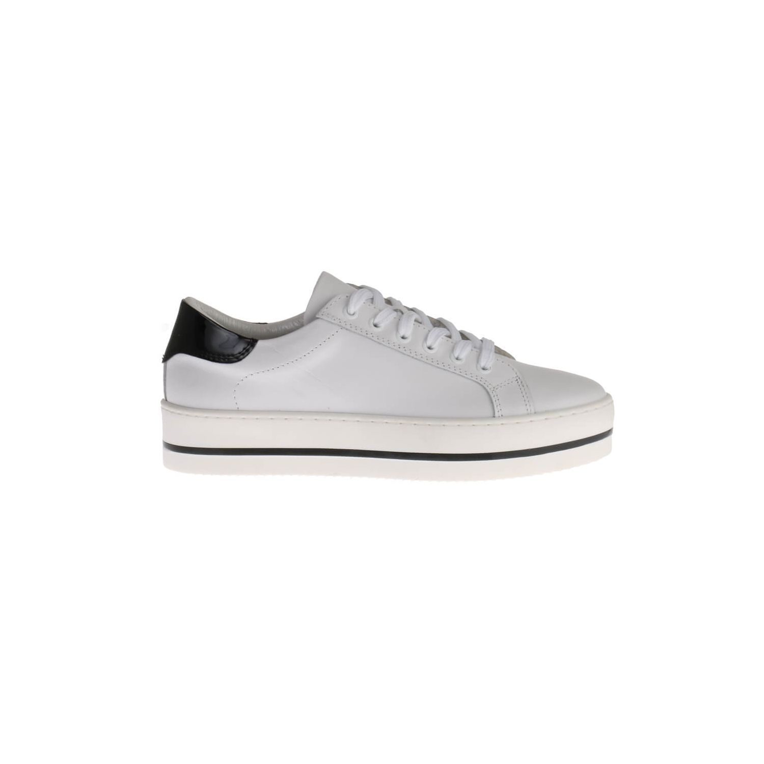 HIP D1496 Sneakers Wit Leer