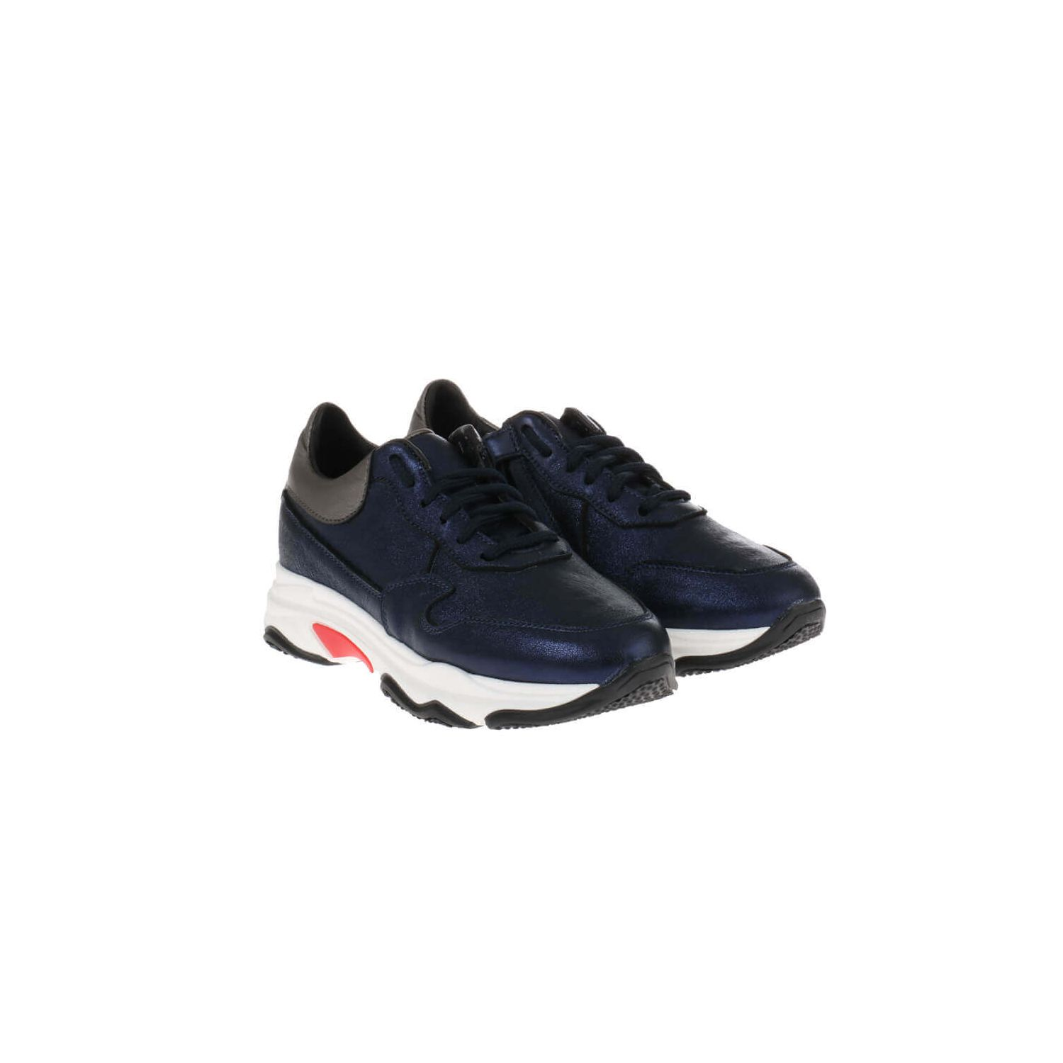 HIP H1748 Sneakers Blauw Metallic