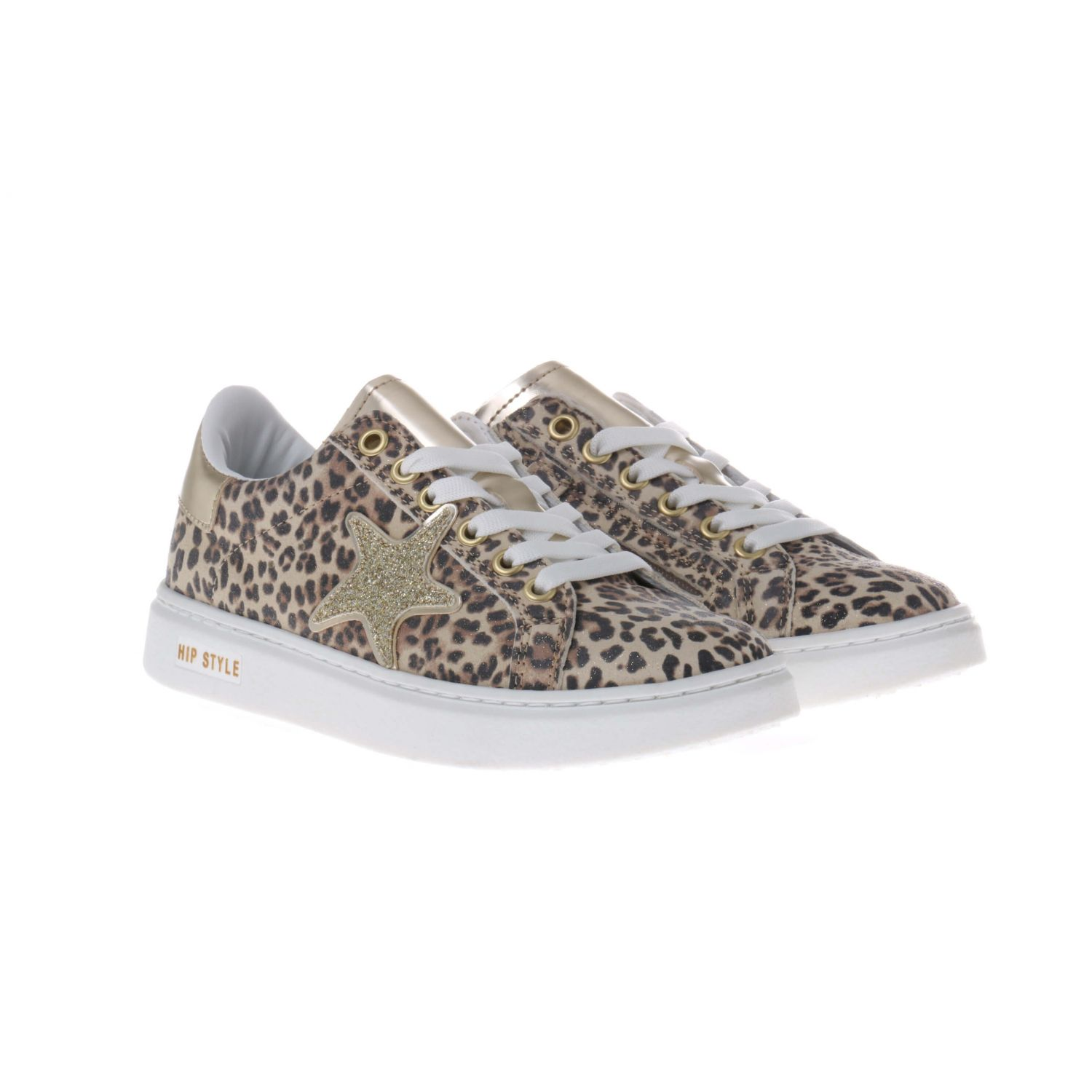 HIP H1764 Sneakers Panter Goud Ster