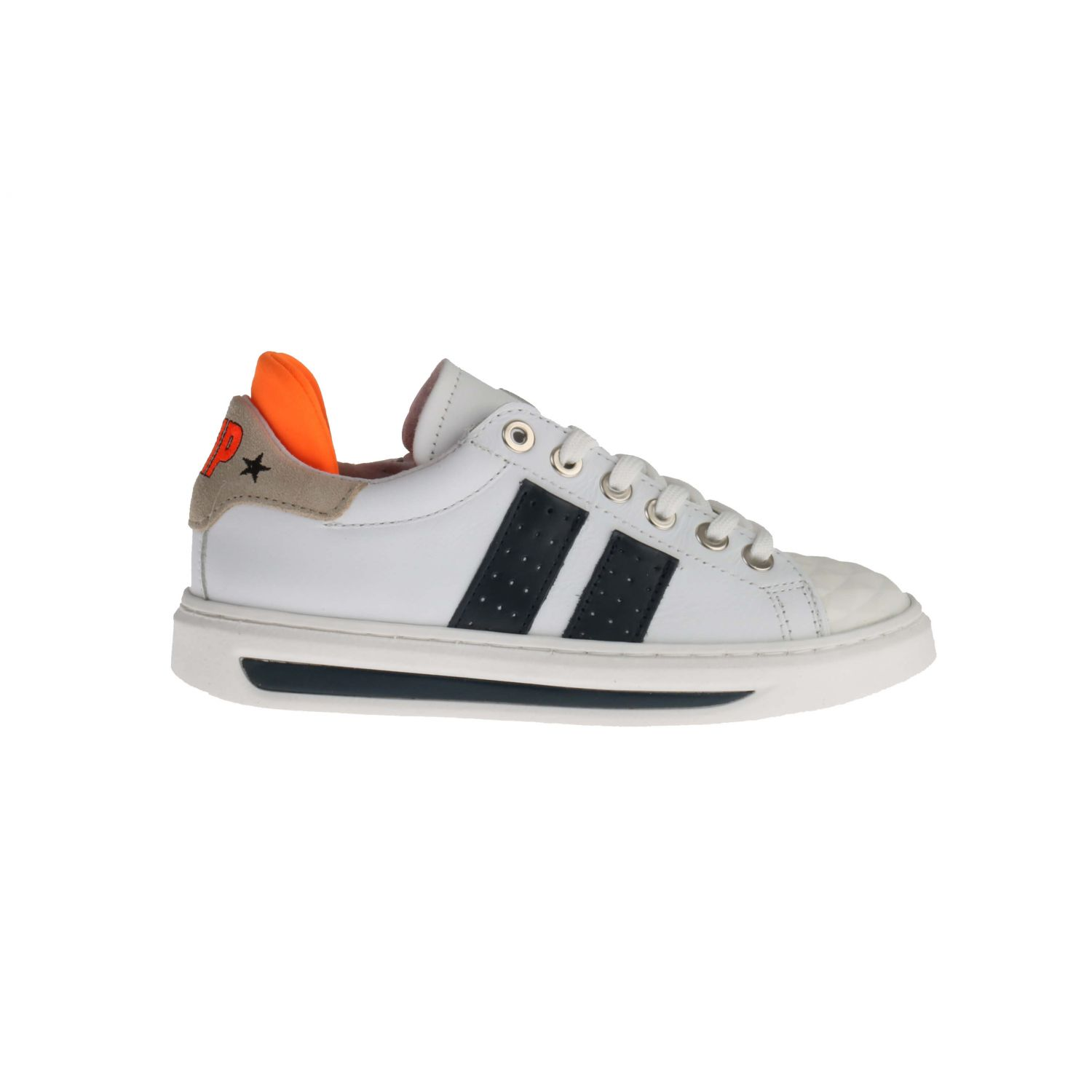 HIP H1887 Sneakers Wit Blauw