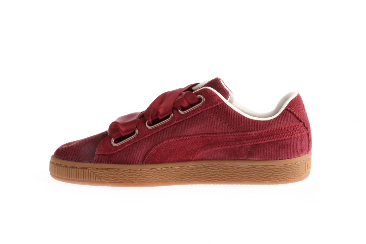 new styles 51d77 6ad1e Puma Basket Heart Corduroy Bordeaux