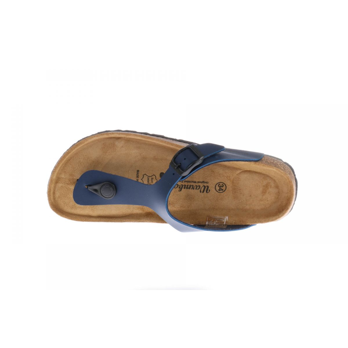 Warmbat Slipper Blauw Leder