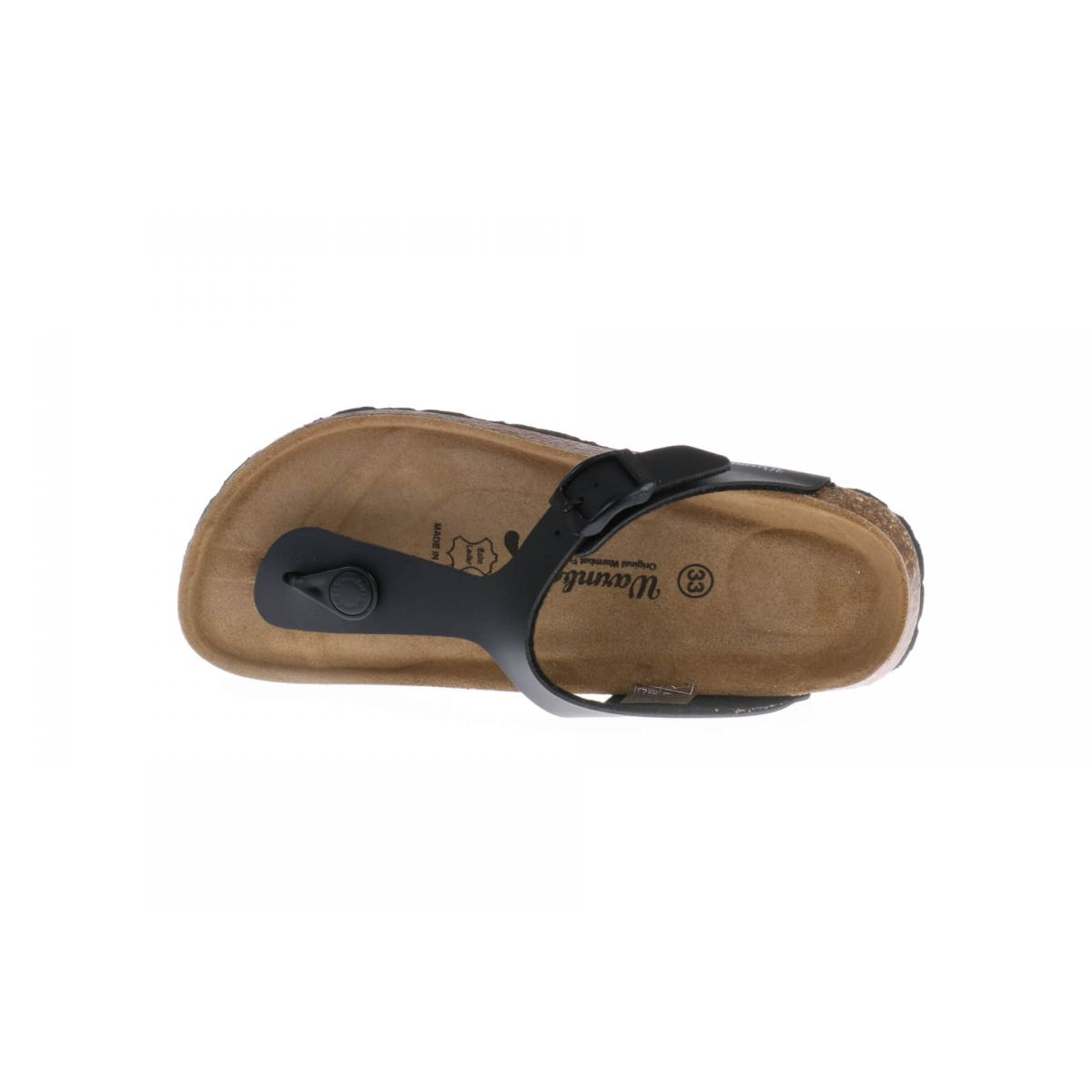 Warmbat Slipper Zwart Leder