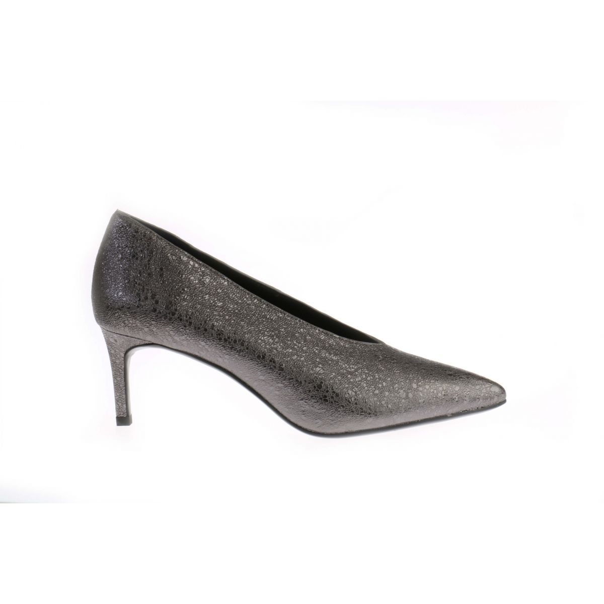 Metallic Grijze Lola Cruz 122Z15BK Plomo Pumps