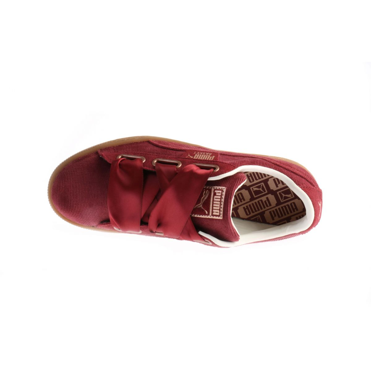Puma Basket Heart Corduroy Bordeaux