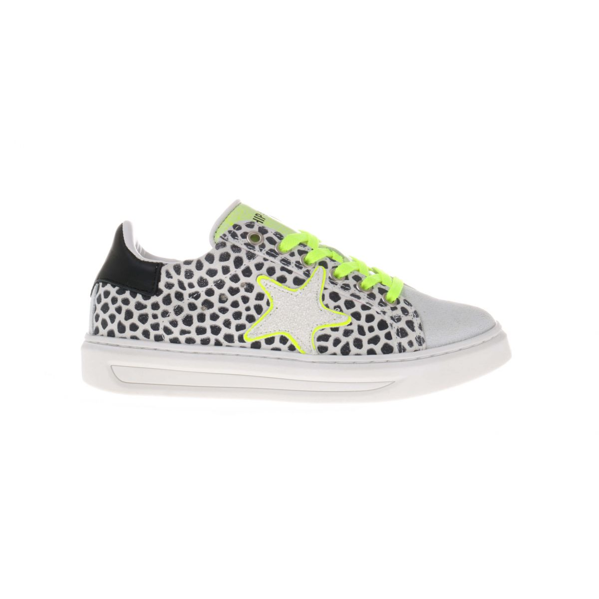HIP H1790 Sneakers Zwart-Wit Giraffe