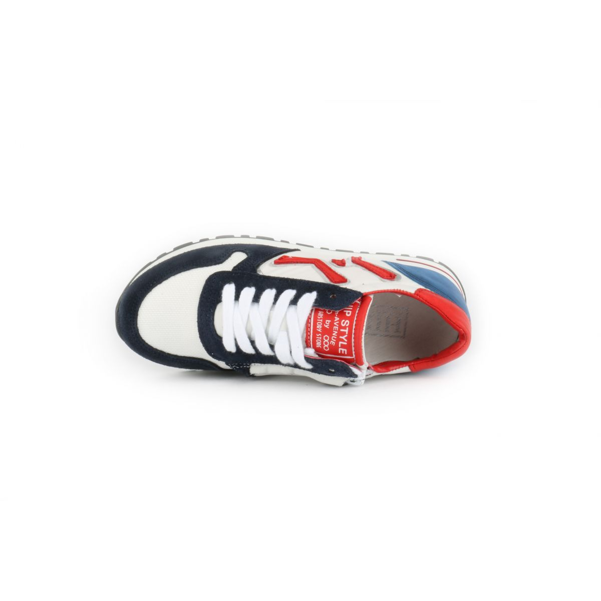 HIP H1841 Sneakers Rood/Wit/Blauw