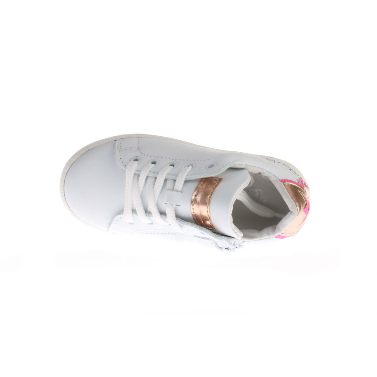 Pinocchio P1114 Sneaker Wit Brons Roze