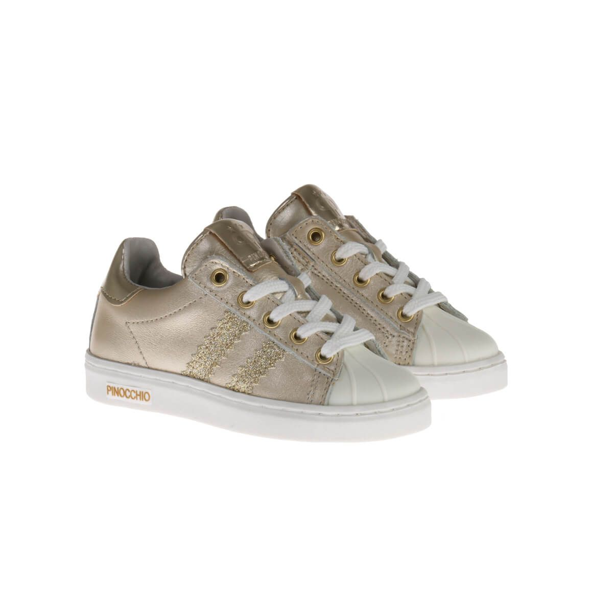 Pinocchio P1834 Sneakers Goud Glitter