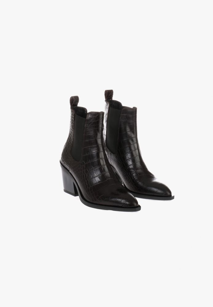 HIP D1942 Chelseaboots Donkerbruin