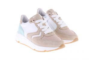 HIP H1797 Sneakers Beige Wit Mint
