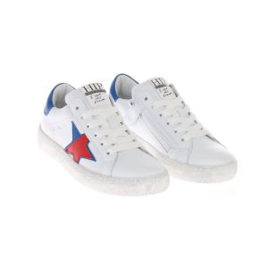 HIP H1213 Sneakers Wit Blauw Rood Ster