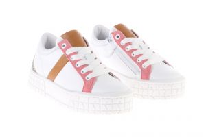HIP H1804 Sneakers Wit Bruin Roze