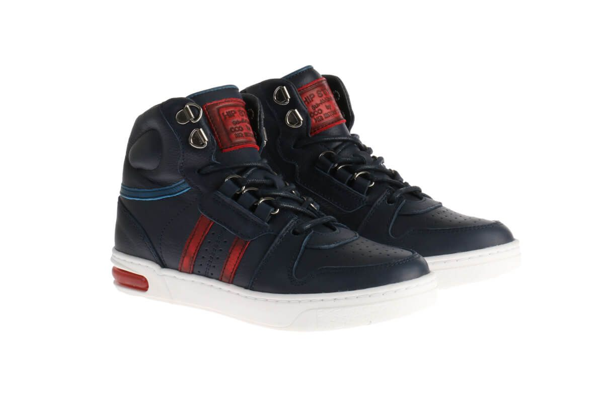 HIP H1598 Sneakers Blauw/Rood